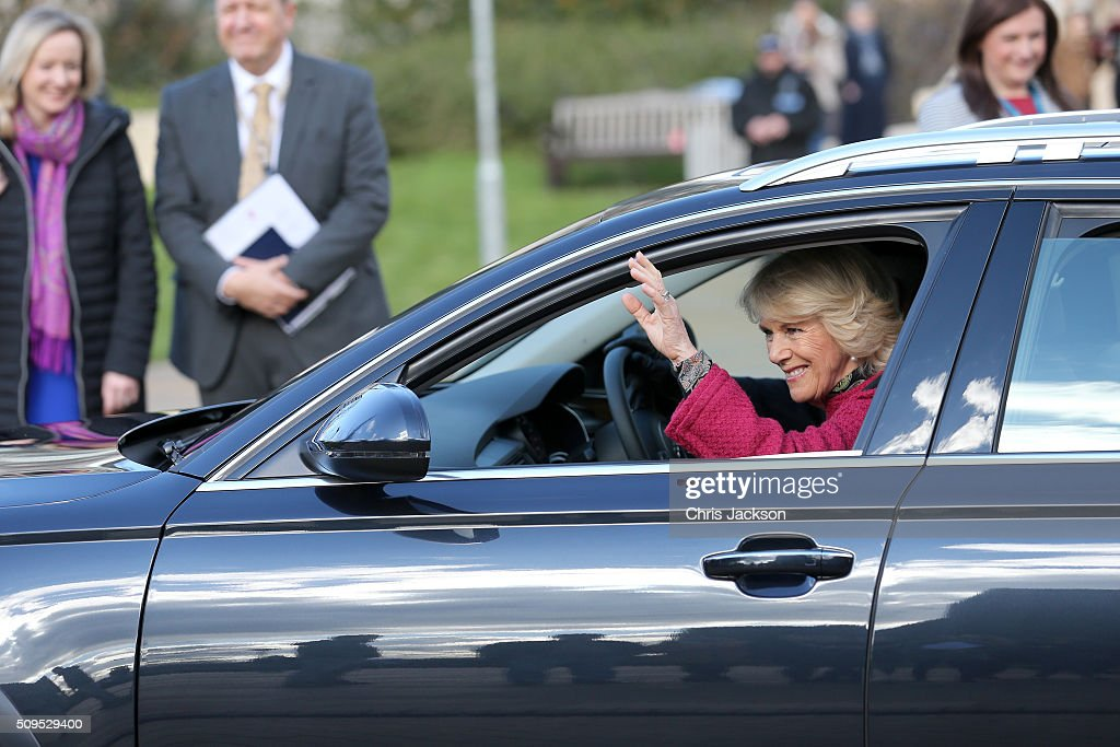 Camilla, Duchess Of Cornwall at the University Of Southampton where she is to be awarded an Honourary Doctorate on February 11, 2016 in Southampton, England.