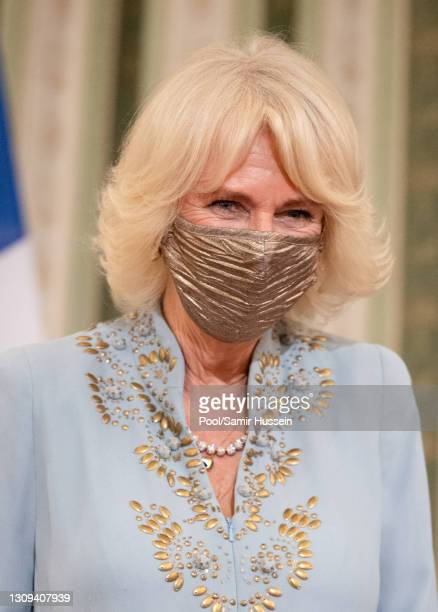 Camilla, Duchess of Cornwall attends a dinner and reception hosted by Her Excellency the President of the Hellenic Republic, Katerina Sakellaropoulou...