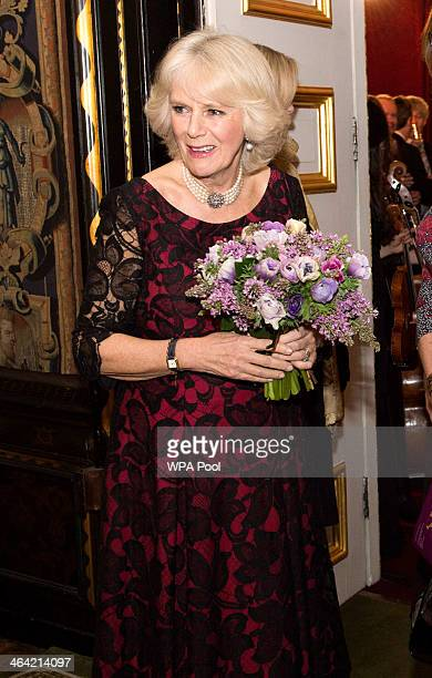 Camilla Duchess of Cornwall attends a Gala Concert and Reception to mark the 125th Anniversary of I CAN and support their Million Lost Voices Appeal...