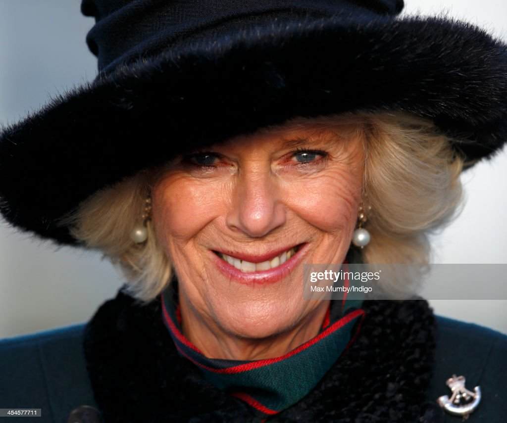Camilla, Duchess of Cornwall (in her role as Royal Colonel) attends a medals parade for soldiers of 4th Battalion The Rifles on their return from Afghanistan at Ward Barracks, Bulford Camp on December 9, 2013 in Wiltshire, England.