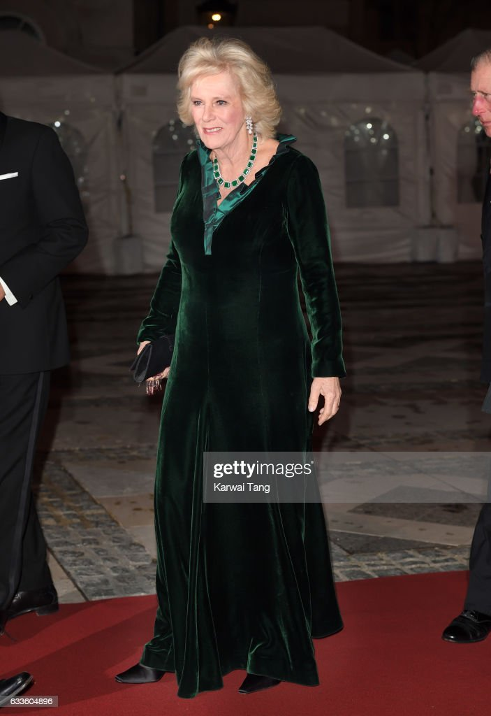 Camilla, Duchess of Cornwall attends a reception and dinner for supporters of The British Asian Trust on February 2, 2017 in London, England.