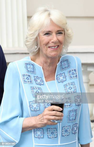 Camilla Duchess of Cornwall attends a reception to mark her 70th birthday at Clarence House on July 13 2017 in London England
