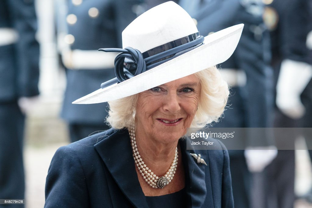 Camilla, Duchess of Cornwall attends a service to mark the 77th anniversary of the Battle of Britain at Westminster Abbey on September 17, 2017 in London, England. The annual service remembers the pilots and aircrew of the Royal Air Force who lost their lives in the 1940 Battle of Britain during World War II.