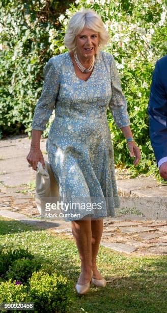 Camilla Duchess of Cornwall attends an evening of music drama at their Welsh home in Llandovery on July 3 2018 in Llandovery Wales