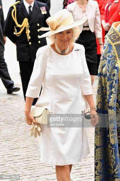 Camilla Duchess of Cornwall attends as members of the Royal Family attend events to mark the centenary of the RAF on July 10 2018 in London England