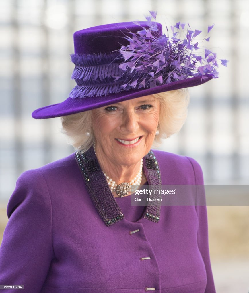 Camilla, Duchess of Cornwall attends Commonwealth day celebrations service and reception at Westminster Abbey on March 13, 2017 in London, England.