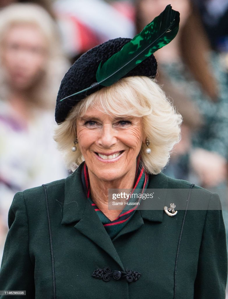 The Duchess of Cornwall Attends Rifles Medals Parade : News Photo