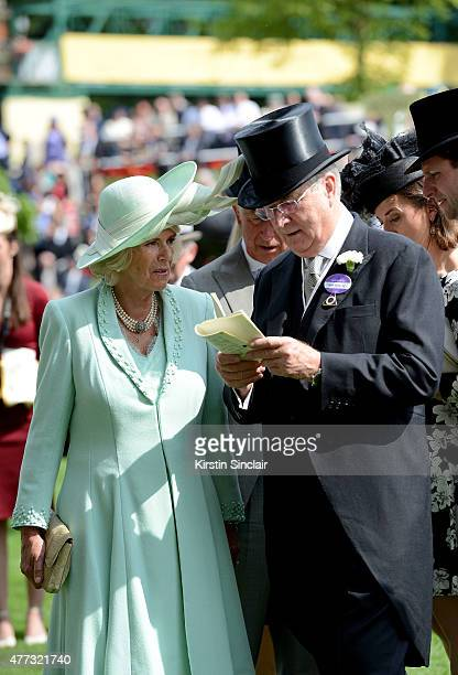 Camilla Duchess of Cornwall attends Royal Ascot 2015 at Ascot racecourse on June 16 2015 in Ascot England