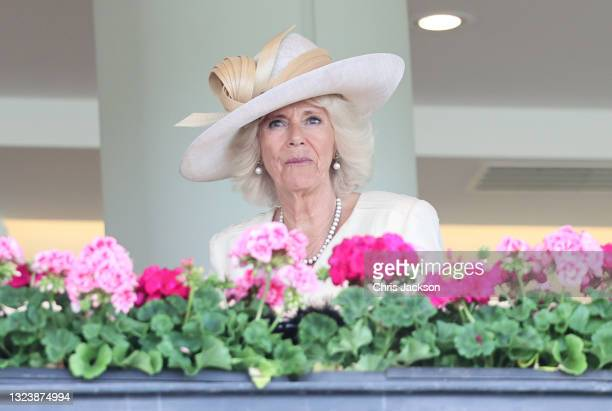 Camilla, Duchess of Cornwall attends Royal Ascot 2021 at Ascot Racecourse on June 16, 2021 in Ascot, England.
