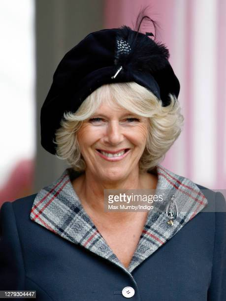Camilla Duchess of Cornwall attends the 2006 Braemar Highland Gathering at The Princess Royal and Duke of Fife Memorial Park on September 2 2006 in...