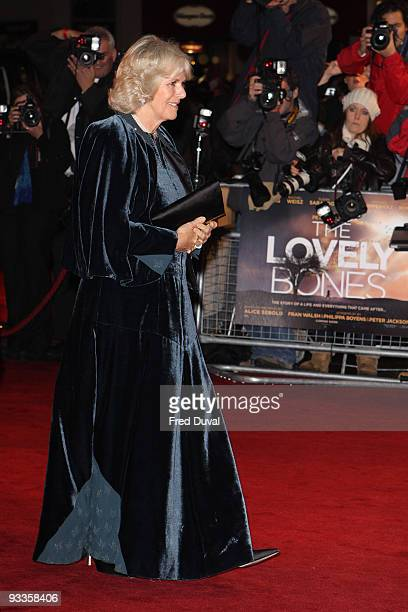 Camilla, Duchess of Cornwall attends The 2009 Royal Film Performance and World Premiere of 'The Lovely Bones' at Odeon Leicester Square on November...