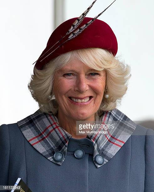 Camilla Duchess of Cornwall attends the 2012 Braemar Highland Gathering at The Princess Royal Duke of Fife Memorial Park on September 1 2012 in...