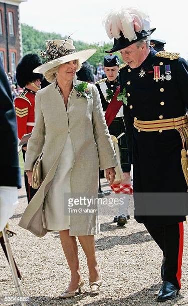 Camilla Duchess of Cornwall attends the annual Founder's Day Parade at the Royal Hospital in Chelsea on June 9, 2005 in London, England. The hospital...