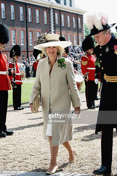 Camilla, Duchess of Cornwall, attends the annual Founder's Day Parade at the Royal Hospital in Chelsea on June 9, 2005 in London, England. The...