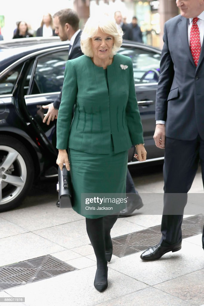 Camilla, Duchess of Cornwall attends the annual ICAP charity day at ICAP on December 5, 2017 in London, England.