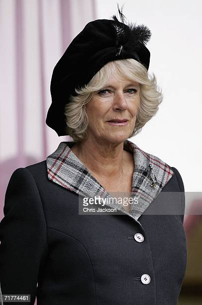 Camilla Duchess of Cornwall attends the Braemar Gathering at the Princess Royal and Duke of Fife Memorial Park on September 2 2006 in Braemar...