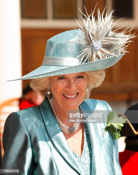 Camilla, Duchess of Cornwall attends the Chelsea Pensioners Founder's Day Parade at the Royal Hospital Chelsea on June 6, 2013 in London, England....