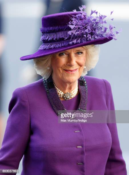 Camilla Duchess of Cornwall attends the Commonwealth Day Service at Westminster Abbey on March 13 2017 in London England