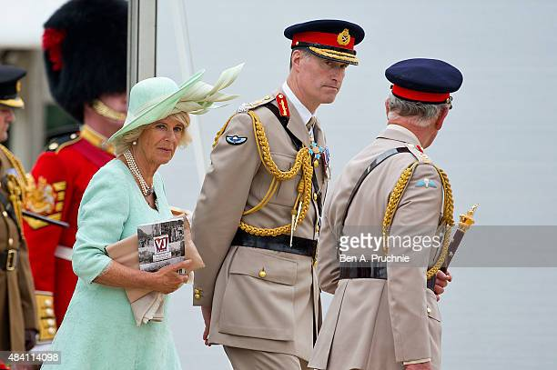 Camilla, Duchess of Cornwall attends the Drumhead Service during the 70th Anniversary commemorations of VJ Day on Horse Guards Parade August 15, 2015...