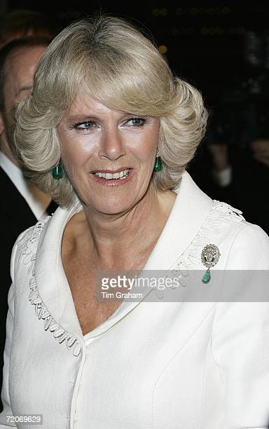 Camilla, Duchess of Cornwall attends the film premiere of 'The History Boys' at the Odeon cinema in Leicester Square on October 2, 2006 in London,...