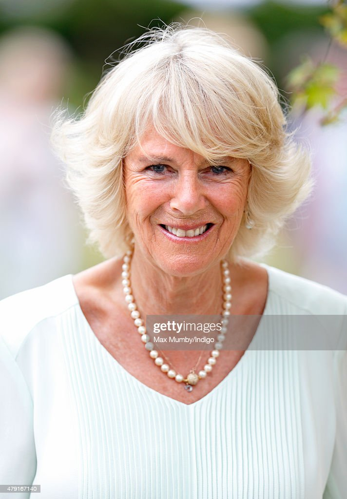 Camilla, Duchess of Cornwall attends The Hampton Court Flower Show at Hampton Court Palace on July 1, 2015 in London, England.
