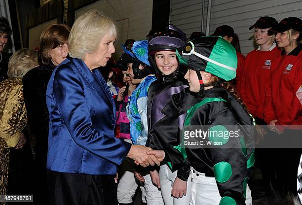 Camilla Duchess of Cornwall attends The London International Horse show at Olympia Exhibition Centre on December 19 2013 in London England