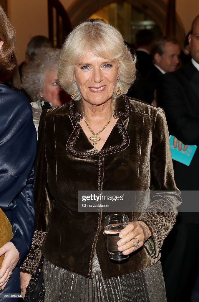 Camilla, Duchess of Cornwall attends the Man Booker Prize dinner and reception at The Guildhall on October 17, 2017 in London, England.