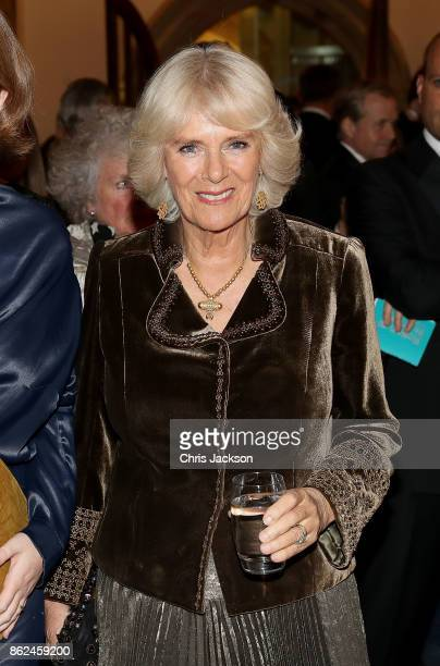 Camilla Duchess of Cornwall attends the Man Booker Prize dinner and reception at The Guildhall on October 17 2017 in London England