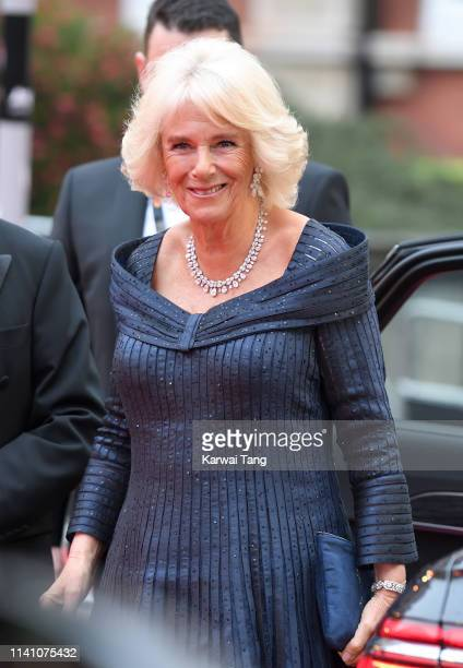 Camilla Duchess of Cornwall attends The Olivier Awards 2019 with MasterCard at Royal Albert Hall on April 07 2019 in London England