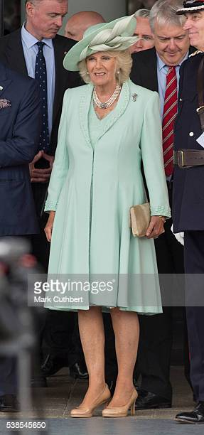 Camilla Duchess of Cornwall attends the Opening of the Fifth Session of the National Assembly for Wales at The Senedd on June 7 2016 in Cardiff Wales