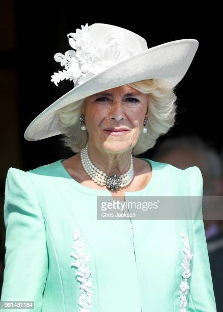 Camilla, Duchess of Cornwall attends The Prince of Wales' 70th Birthday Patronage Celebration held at Buckingham Palace on May 22, 2018 in London,...