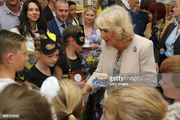 Camilla Duchess of Cornwall attends The Royal Cornwall Show at The Royal Cornwall Showground on June 7 2018 in Wadebridge England