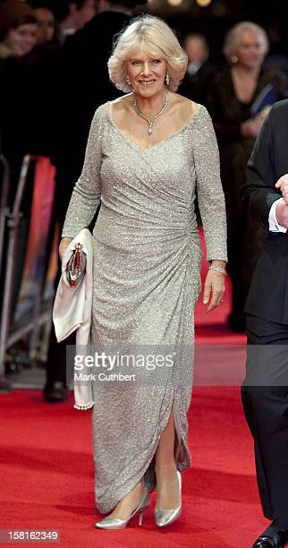 Camilla Duchess Of Cornwall Attends The Royal Film Premiere Of 'Hugo' At The Odeon Leicester Square In London