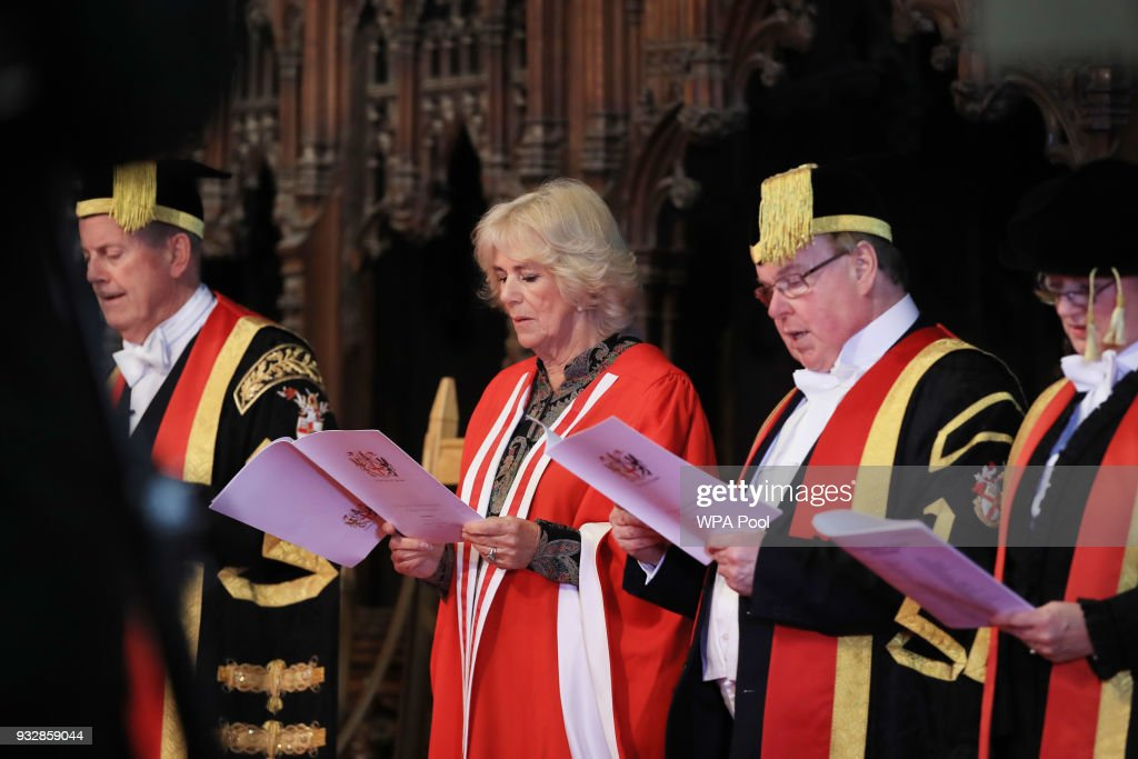 The Duchess Of Cornwall Attends The University Of Chester Graduation Ceremony