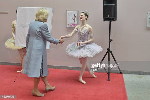Camilla Duchess of Cornwall attends the Winnipeg Ballet on May 21 2014 in Winnipeg Canada The Prince of Wales and Duchess of Cornwall are on a four...