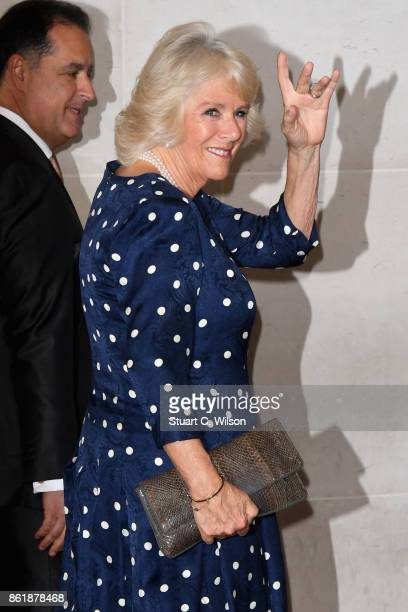 Camilla Duchess of Cornwall attends the Woman Of The Year Awards Lunch at Intercontinental Hotel on October 16 2017 in London England