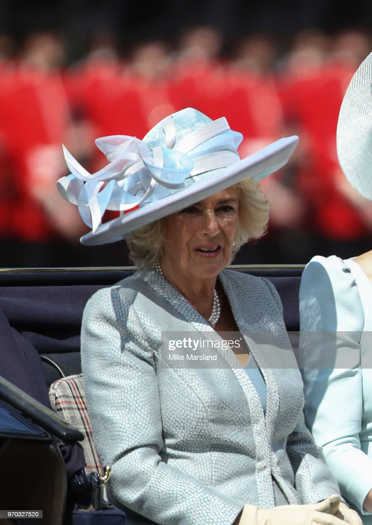 d11fb56fe Camilla Duchess of Cornwall attends Trooping The Colour 2018 at ...