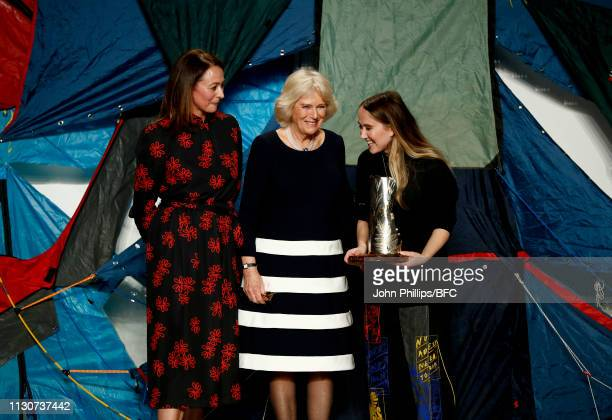 Camilla, Duchess Of Cornwall awards the Queen Elizabeth II award for British Design to designer Bethany Williams , alongside Caroline Rush, Chief...