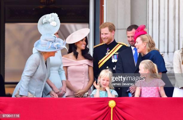 Camilla Duchess Of Cornwall Catherine Duchess of Cambridge Meghan Duchess of Sussex Prince Harry Duke of Sussex Peter Phillips Autumn Phillips Isla...