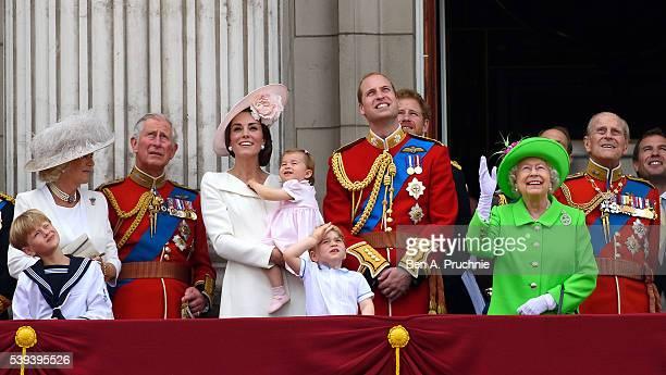 Camilla Duchess of Cornwall Charles Prince of Wales Catherine Duchess of Cambridge Princess Charlotte of Cambridge Prince George of Cambridge Prince...