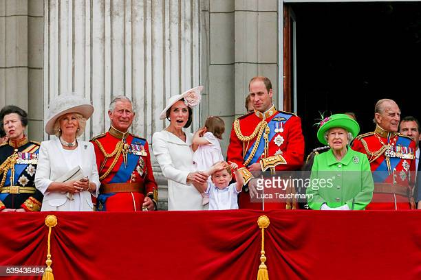 Camilla Duchess of Cornwall Charles Prince of Wales Catherine Duchess of Cambridge Princess Charlotte Prince George and Prince William Duke of...
