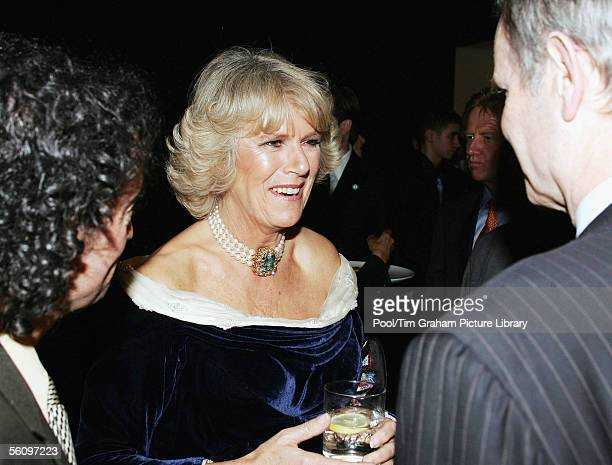 Camilla Duchess of Cornwall chats with guests at the Museum of Modern Art on November 1 2005 in New York City