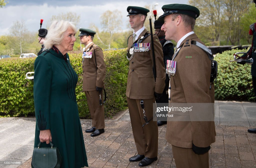 The Duchess Of Cornwall, Colonel-In-Chief, The Rifles, Visits 5th Battalion The Rifles, Wiltshire : News Photo