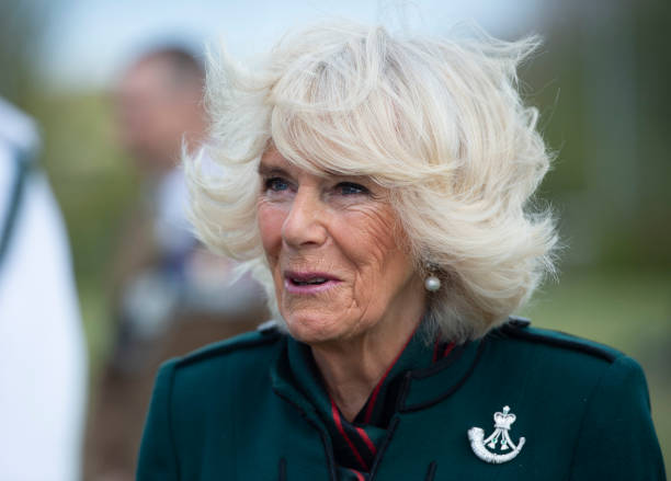 GBR: The Duchess Of Cornwall, Colonel-In-Chief, The Rifles, Visits 5th Battalion The Rifles, Wiltshire