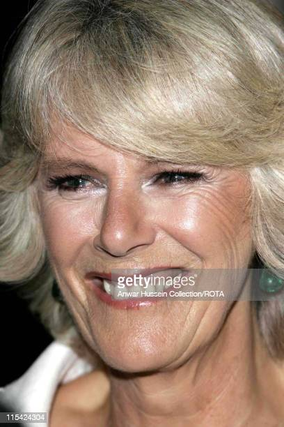 Camilla Duchess of Cornwall during 'The History Boys' UK Film Premiere Inside Arrivals in London Great Britain
