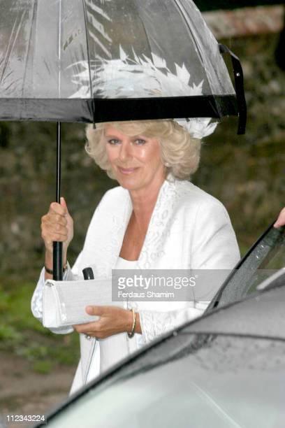 Camilla Duchess of Cornwall during Tom Parker Bowles And Sara Buys Wedding at St Nicholas Church in Rotherfield Greys Great Britain
