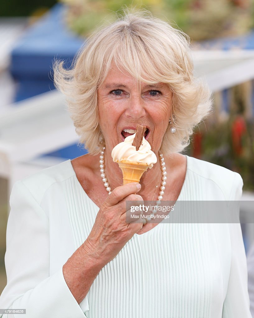 The Duchess Of Cornwall Visits The Hampton Court Flower Show : News Photo