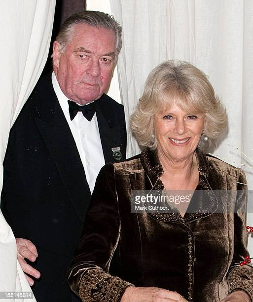 Camilla, Duchess Of Cornwall Escorted By Lord Vestey Arrives At The London International Horse Show At Olympia In London.