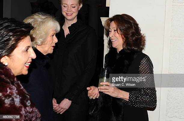 Camilla Duchess of Cornwall Gwendoline Christie and Cherie Lunghi attend the Maggie's Christmas Carol concert at St Paul's Cathedral on December 16...