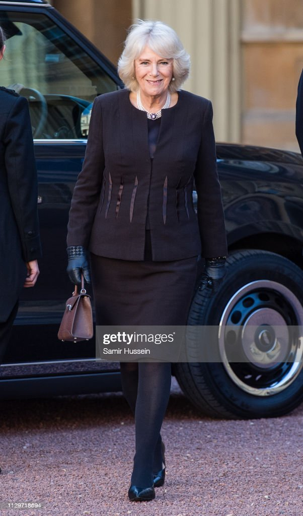 The Duchess Of Cornwall Hosts A Reception For The London Taxi Drivers' Charity For Children : News Photo